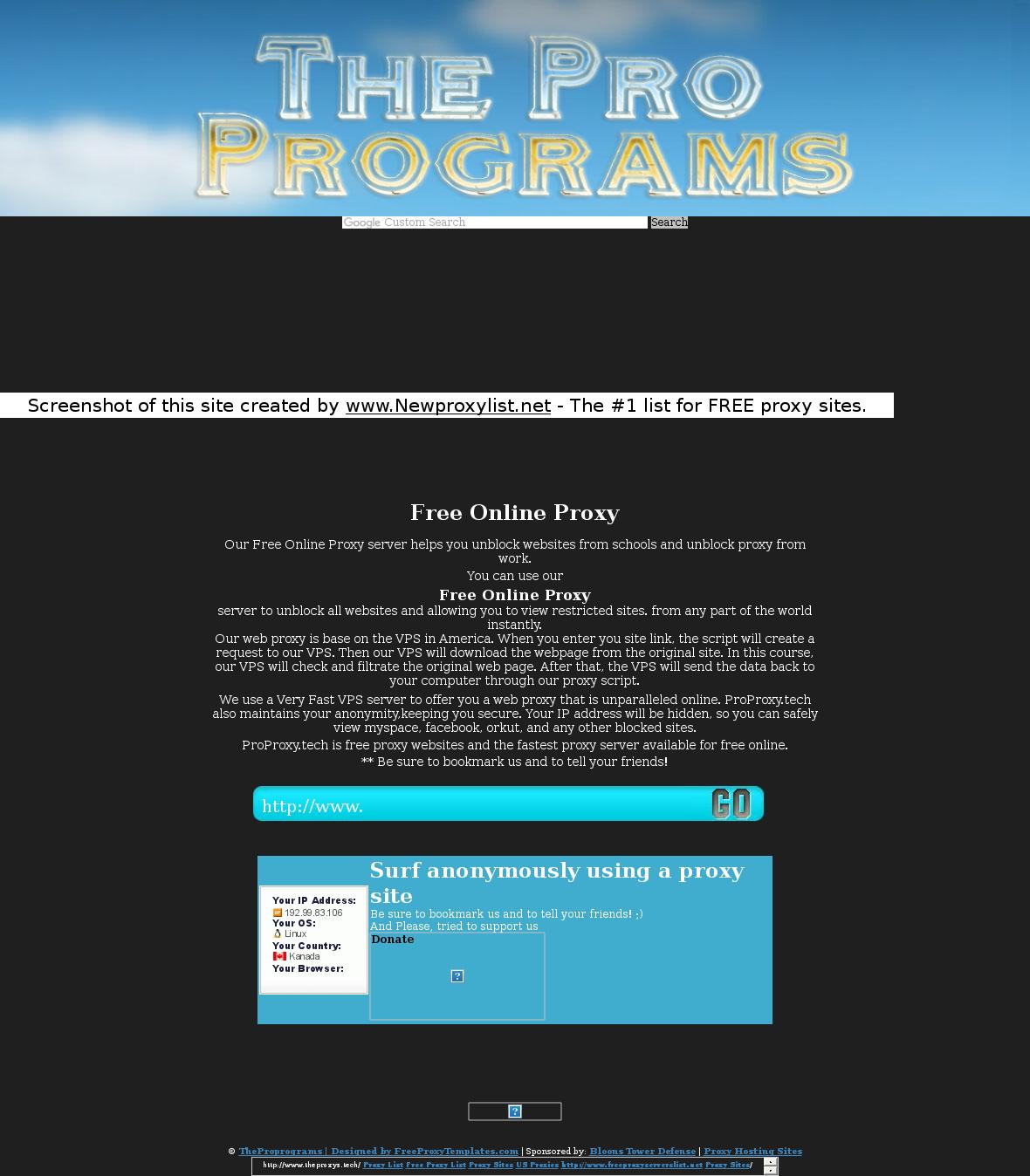 Free proxy search