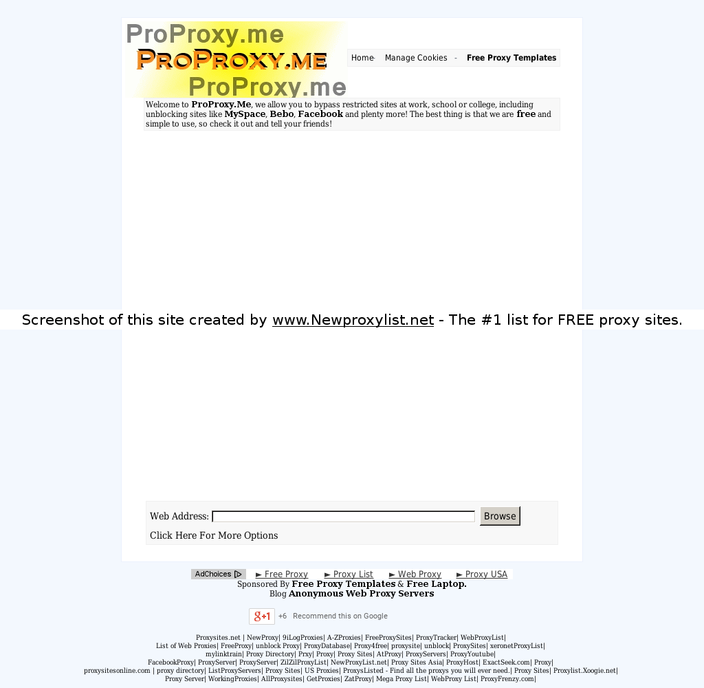 New Proxy List | Proxy site details for: